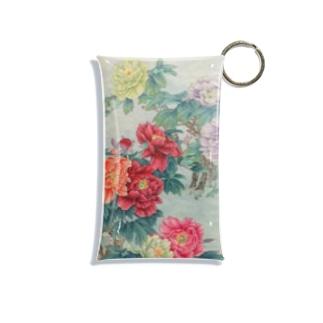 牡丹と蜂 Mini Clear Multipurpose Case
