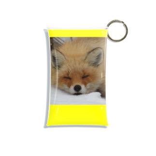 【にこらび】キタキツネ黄色◇003 Mini Clear Multipurpose Case