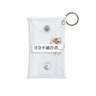 「社会不適合者にゃ」三毛猫ver Mini Clear Multipurpose Case