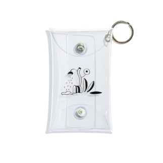 plant black-and-white Mini Clear Multipurpose Case