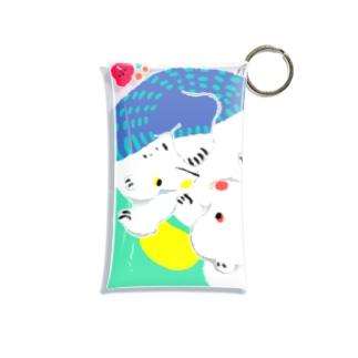 mya-mya=MIYA JUNKO's shop 02のクマとクマでぐるぐる Mini Clear Multipurpose Case