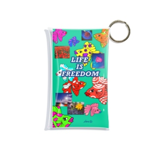LIFE IS FREEDOM  Mini Clear Multipurpose Case