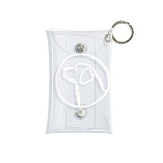 ゴールデン・レトリーバー〈白線・円〉 Mini Clear Multipurpose Case