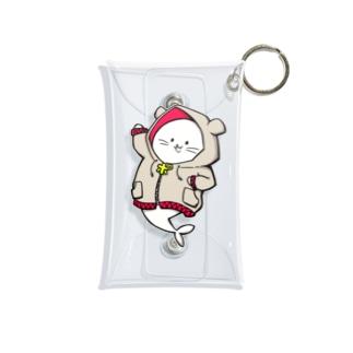 (Red)夢アザラシチャン Mini Clear Multipurpose Case