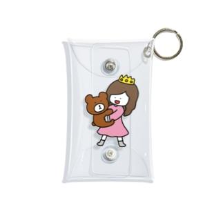 くまと女の子 Mini Clear Multipurpose Case