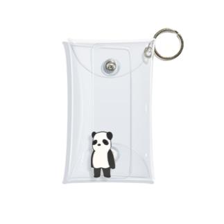 直立パンダ Mini Clear Multipurpose Case