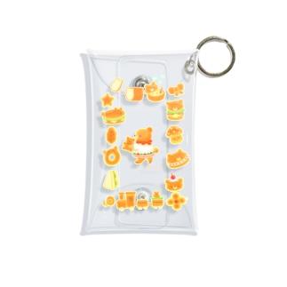 パンのテディベア Mini Clear Multipurpose Case