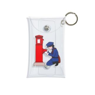 丸型郵便ポストと郵便屋さん Mini Clear Multipurpose Case