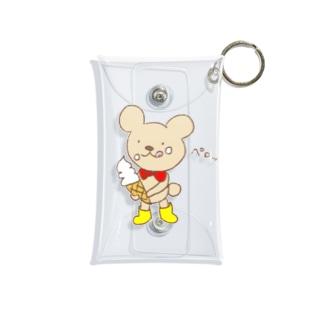 ソフトクリーム美味しいな💕 Mini Clear Multipurpose Case