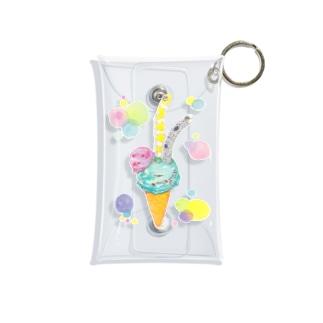 チョコミントアイス チンアナゴ トッピング Mini Clear Multipurpose Case