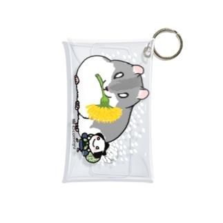 『ハムスターとちょんまげ君(たんぽぽ)』 Mini Clear Multipurpose Case
