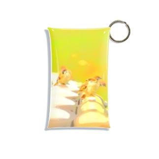 スズメの群れ Mini Clear Multipurpose Case