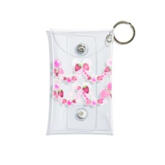 いちごと水晶玉のふんわり魔法 ~リボン&レース~ Mini Clear Multipurpose Case