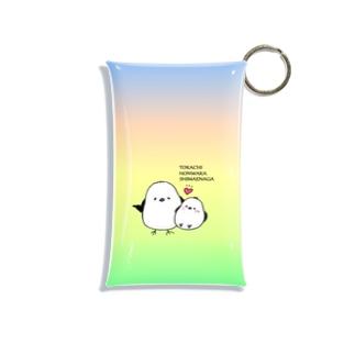 十勝ほんわかシマエナガ【Rainbow】 Mini Clear Multipurpose Case