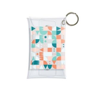 random shapes Mini Clear Multipurpose Case
