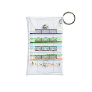 I Love Trains 横浜駅で見られるかも編 Mini Clear Multipurpose Case