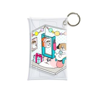 もじゃまるくつろぎ Mini Clear Multipurpose Case