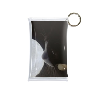 ゆるく月を愛でる Mini Clear Multipurpose Case