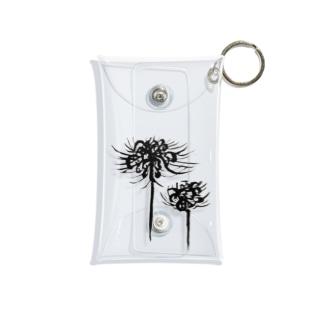 曼珠沙華 黒 Mini Clear Multipurpose Case