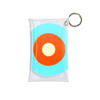 サークルa・水色3・オレンジ・クリーム Mini Clear Multipurpose Case