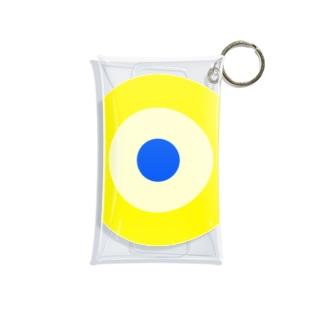 サークルa・黄土・クリーム・青 Mini Clear Multipurpose Case
