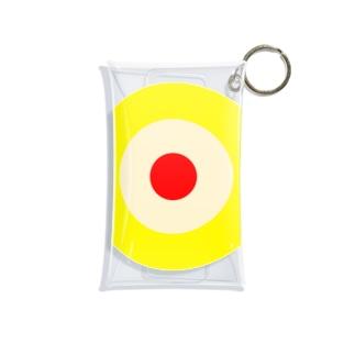 サークルa・黄土・クリーム2・赤 Mini Clear Multipurpose Case