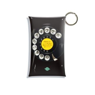 黒電話ダイヤル Mini Clear Multipurpose Case