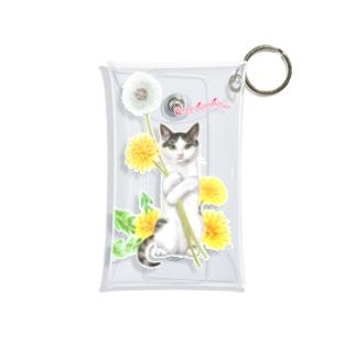 タンポポとサバトラ子猫② Mini Clear Multipurpose Case