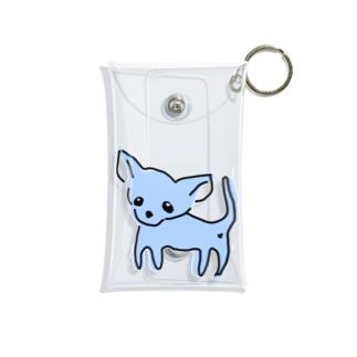 ゆるチワワ(ブルー) Mini Clear Multipurpose Case