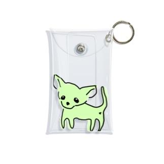 akane_art(茜音工房)のゆるチワワ(グリーン) Mini Clear Multipurpose Case