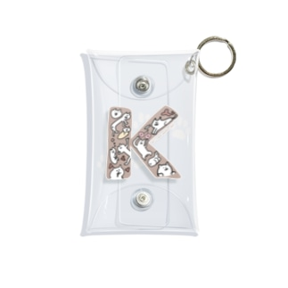 アルファベットねこ(K) Mini Clear Multipurpose Case