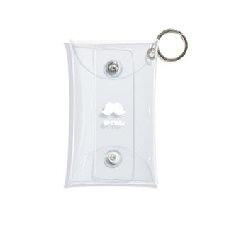 髭のある暮らしシリーズ(ホワイト) Mini Clear Multipurpose Case