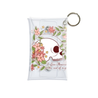I Love Flowers Forever Mini Clear Multipurpose Case