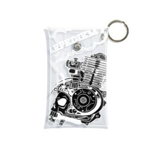 ドクロエンジン黒 Mini Clear Multipurpose Case