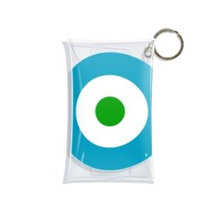 サークルa・ブルーグレー・白・緑 Mini Clear Multipurpose Case