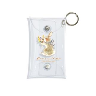 Rabbit -花束- Mini Clear Multipurpose Case