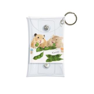 【KAMAP】枝豆とハムスター兄弟 Mini Clear Multipurpose Case