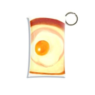 食パンにハム、目玉焼き Mini Clear Multipurpose Case