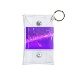 キラキラうちゅうにゃんこムラサキ Mini Clear Multipurpose Case