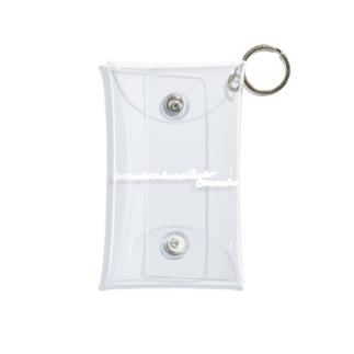 Hatarakitakunai(白文字) Mini Clear Multipurpose Case