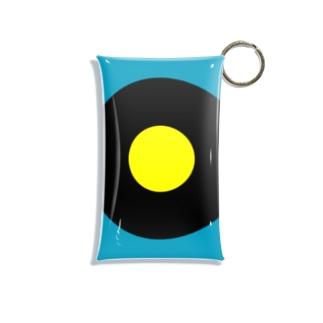 サークルa・ブルーグレー・黒・黄 Mini Clear Multipurpose Case