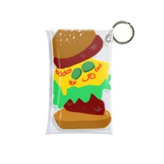 バーガーくん Mini Clear Multipurpose Case
