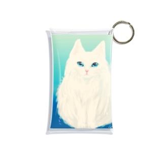 白猫さんさわやかさん Mini Clear Multipurpose Case