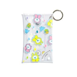 うさぎゅーん!!!あめあめドロップ Mini Clear Multipurpose Case