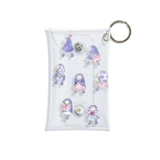 お散歩ずきんPurple Mini Clear Multipurpose Case