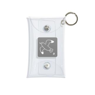 かもめ(White) Mini Clear Multipurpose Case