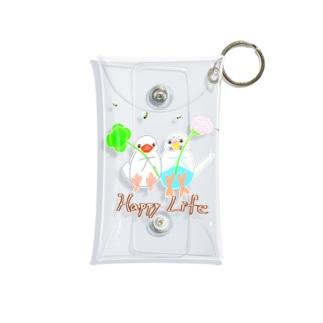 幸せ小鳥&シロツメクサ Mini Clear Multipurpose Case
