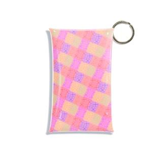 紗綾形(卍崩し)カラフル・ピンク Mini Clear Multipurpose Case