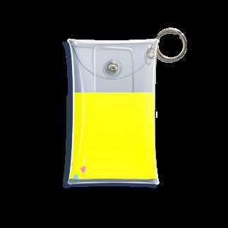 amy_sのサンカクシカク キイロ Mini Clear Multipurpose Case