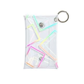 虹色のグラデーションの四角形 Mini Clear Multipurpose Case